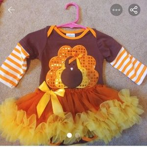Thanksgiving onsie with built in tutu